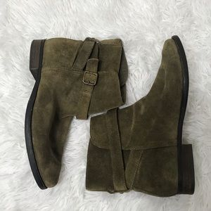 Sam Edelman - Suede Over Ankle Slouchy Boots Green